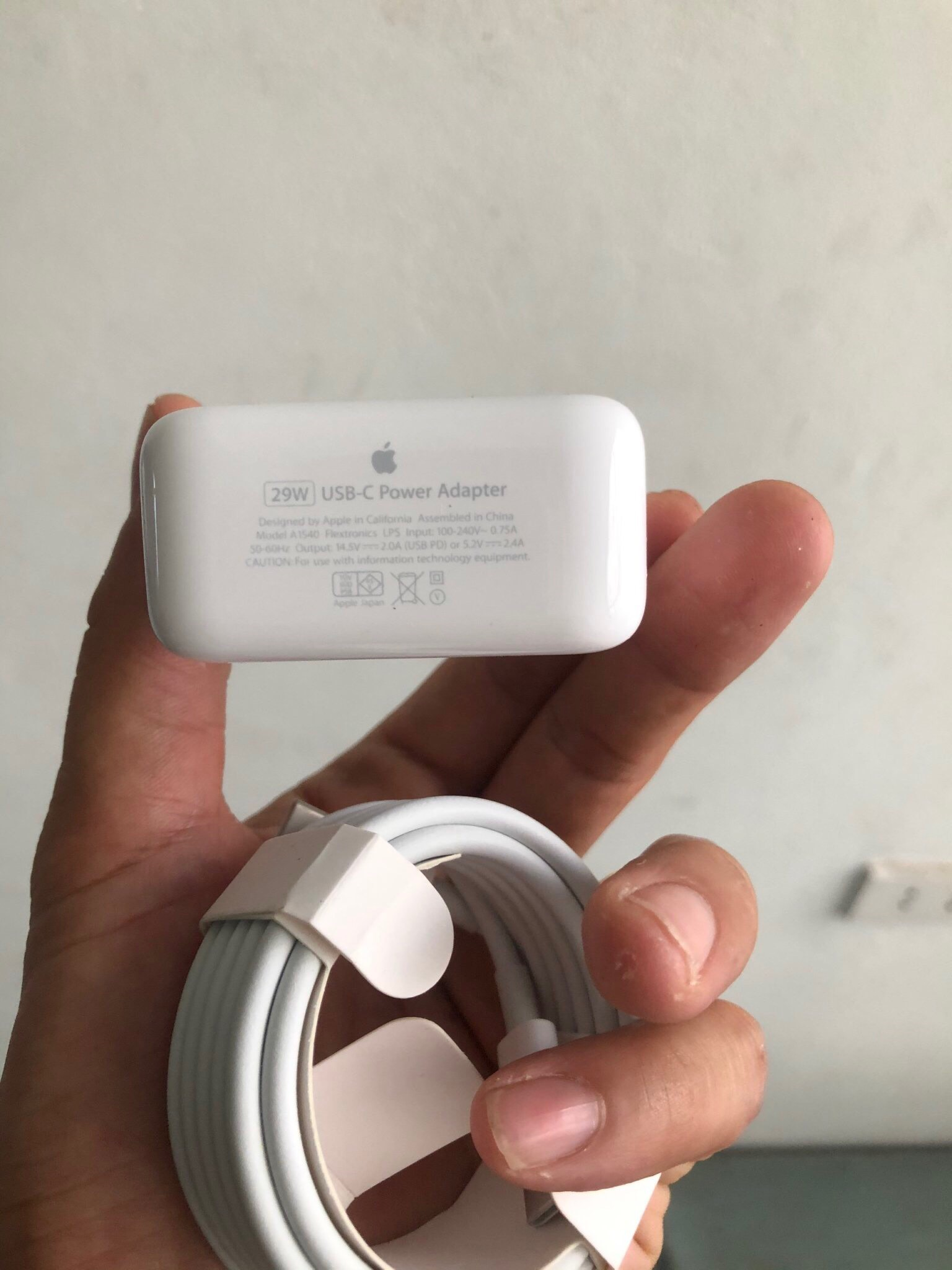 SẠC MACBOOK 29W USB-C POWER ADAPTER CHÍNH HÃNG